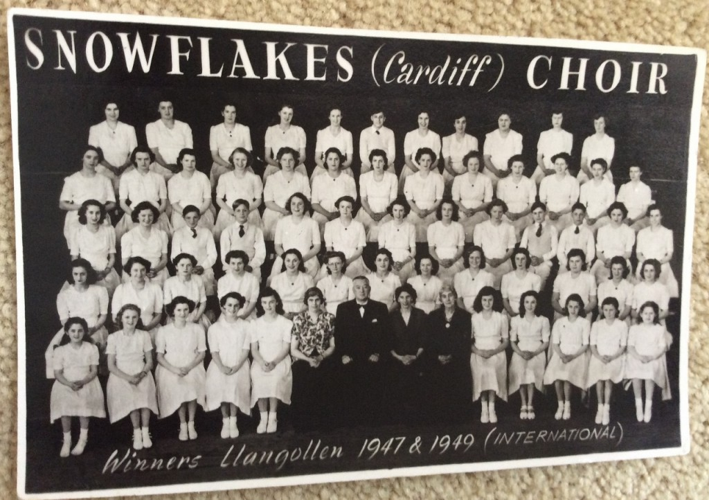 Pictures of the Cardiff Snowflakes Choir sent by former member Marian Hughes, of Whitchurch, Cardiff.