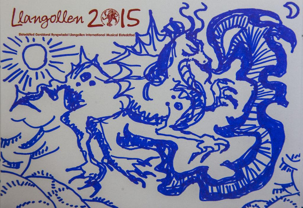 Llangollen International Music Eisteddfod fundraising auction cartoons.