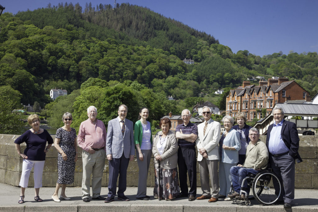 Members of Llangollen Rotary club and Inner wheel with representatives of Llangollen International Musical Eisteddfod.