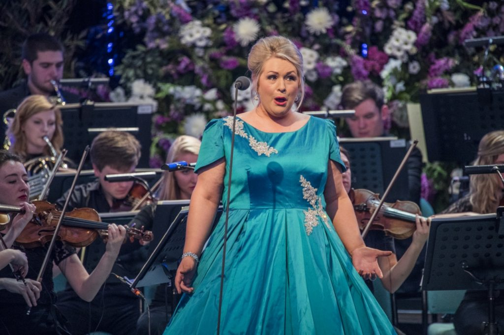 Llangollen International Musical Eisteddfod 2016. Thursday evening concert. Bryn Terfel celebrates the 70th Llangollen International Musical Festival with good friend Maltese Joseph Calleja and joined on stage by the Eisteddfod's 2014 Voice of the Future