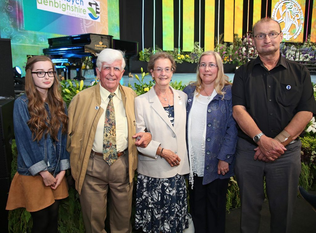 Selwyn and Ann Tudor at the Royal International Pavilion with daughter Susan, Son-in-law Vincent and granddaughter Caitlin