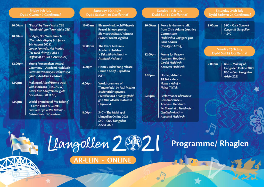 Llangollen Online 2021 Programme